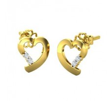 Natural Diamond Earrings 0.08 CT / 2.50 gm Gold