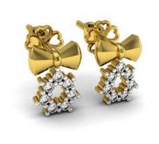 Natural Diamond Earrings 0.16 CT / 2.40 gm Gold
