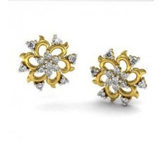 Natural Diamond Earrings 0.59 CT / 4.30 gm Gold