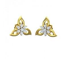 Diamond Earrings 0.16 CT / 2.52 gm Gold