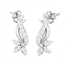 Natural Diamond Earrings 0.32 CT / 3.35 gm Gold