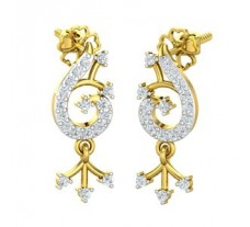 Natural Diamond Earrings 0.31 CT / 3.35 gm Gold