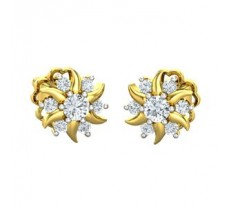 Natural Diamond Earrings 0.44 CT / 2.80 gm Gold