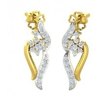 Diamond Earrings 0.35 CT / 3.65 gm Gold