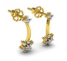 Natural Diamond earrings for girls 0.22 CT / 2.50 gm Gold