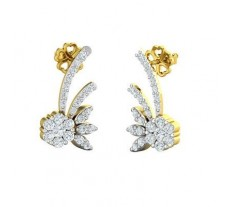 Natural Diamond Earrings 0.45 CT / 3.80 gm Gold