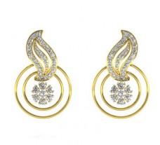 Natural Diamond Earrings 0.71 CT / 3.92 gm Gold