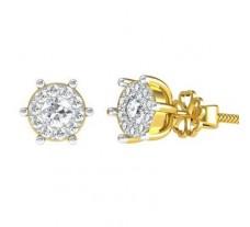 Natural Diamond Earrings 0.68 CT / 4.10 gm Gold