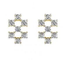 Natural Diamond Earrings 0.49 CT / 2.25 gm Gold