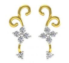 Diamond Earrings 0.30 CT / 2.50 gm Gold