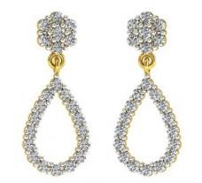 Natural Diamond Earrings 0.99 CT / 4.15 gm Gold