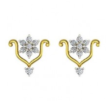 Natural Diamond Earrings 0.51 CT / 3.35 gm Gold