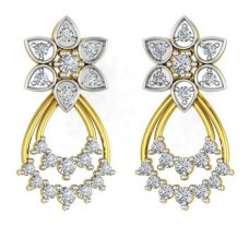 Natural Diamond Earrings 0.68 CT / 4.65 gm Gold