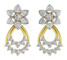 Natural Diamond Earrings 0.68 CT / 4.65 gm Gold