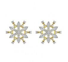 Natural Diamond Earrings 1.11 CT / 6.75 gm Gold