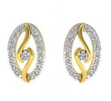 Natural Diamond Earrings 0.40 CT / 3.50 gm Gold