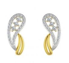 Natural Diamond Earrings 0.49 CT / 3.90 gm Gold
