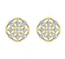 Natural Diamond Earrings 0.69 CT / 4.10 gm Gold