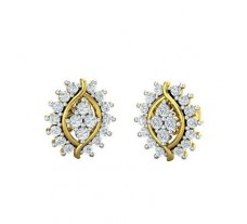Natural Diamond Earrings 0.62 CT / 3.67 gm Gold