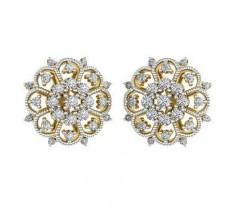 Natural Diamond Earrings 0.63 CT / 5.20 gm Gold