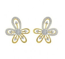 Natural Diamond Earrings 0.758 CT / 5.75 gm Gold