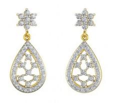 Natural Diamond Earrings 0.986 CT / 4.80 gm Gold