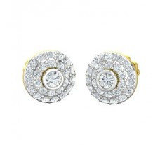 Natural Diamond Earrings 0.63 CT / 3.12 gm Gold
