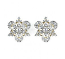 Natural Diamond Earrings 0.59 CT / 3.50 gm Gold