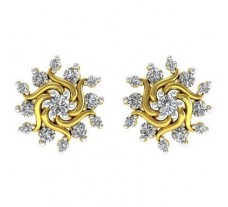 Natural Diamond Earrings 0.276 CT / 2.45 gm Gold
