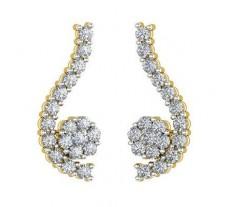 Natural Diamond Earrings 0.57 CT / 3.93 gm Gold