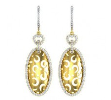 Natural Diamond Earrings 1.23 CT / 14.00 gm Gold