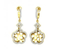 Natural Diamond Earrings 0.60 CT / 7.70 gm Gold