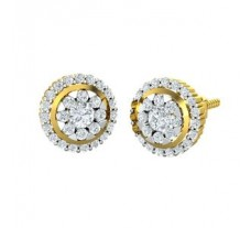 Natural Diamond Earrings 0.62 CT / 4.00 gm Gold