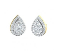 Natural Diamond Earrings 0.84 CT / 5.25 gm Gold