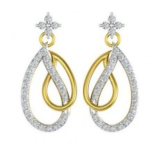Natural Diamond Earrings 0.50 CT / 5.00 gm Gold