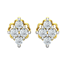 Natural Diamond Earrings 0.24 CT / 2.20 gm Gold
