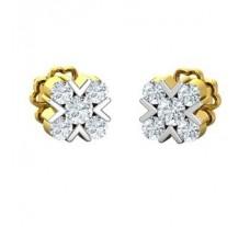Natural Diamond Earrings 0.41 CT / 2.90 gm Gold