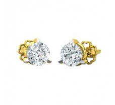 Diamond Earrings 0.13 CT / 3.30 gm Gold