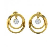 Natural Diamond Earrings 0.40 CT / 7.30 gm Gold