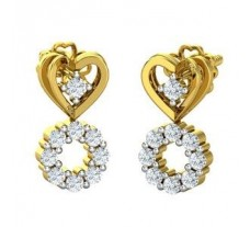 Natural Diamond Earrings 0.37 CT / 3.00 gm Gold
