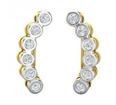 Natural Diamond Earrings 0.42 CT / 3.14 gm Gold