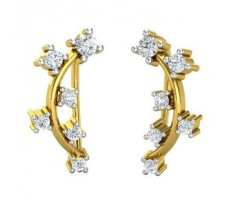 Natural Diamond Earrings 0.34 CT / 2.10 gm Gold