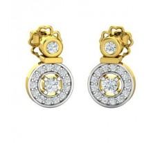 Natural Diamond Earrings 0.228 CT / 2.65 gm Gold