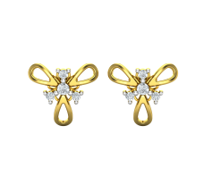 Natural Diamond Earrings 0.13 CT / 2.40 gm Gold