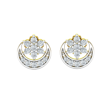 Natural Diamond Earrings 0.282 CT / 2.60 gm Gold