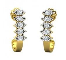 Natural Diamond Earrings 0.40 CT / 3.73 gm Gold