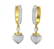 Natural Diamond Earrings 0.686 CT / 5.05 gm Gold