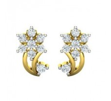 Natural Diamond Earrings 0.49 CT / 2.43 gm Gold