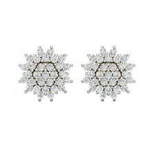 Natural Diamond Earrings 1.50 CT / 4.62 gm Gold