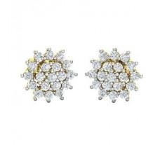 Natural Diamond Earrings 0.76 CT / 2.49 gm Gold